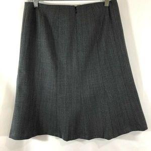 Talbots 4P Gray Work Knee Length Back Zipper Skirt